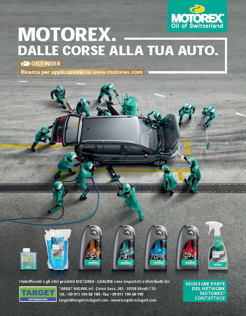 Pagina pubblicitaria MOTOREX CARLINE 2020